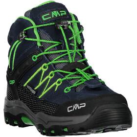CMP Campagnolo Rigel Mid WP Trekking Shoes Juniors Black Blue-Gecko